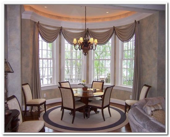 Creative dining room curtain designs dining room for Dining room curtains ideas