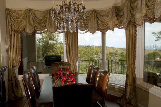 Creative dining room curtain designs dining room for Dining room curtain ideas