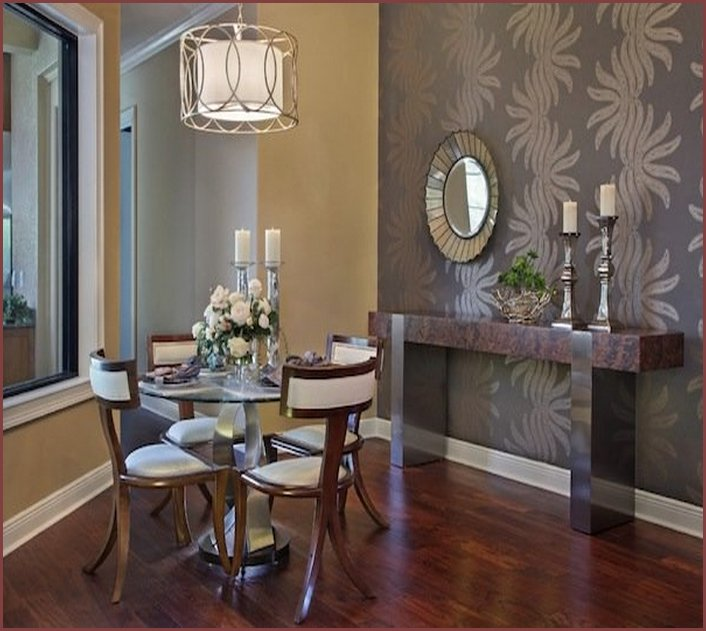 Brilliant ways for furnishing small dining areas dining for Wall designs for dining area