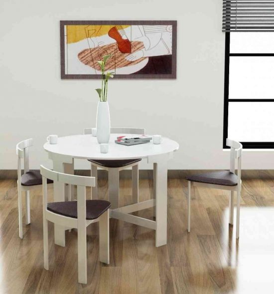 Creative space saving folding dining room table ideas for Space saving dining table