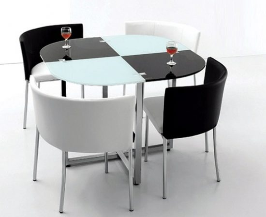 Creative space saving folding dining room table ideas for Space saving dining set