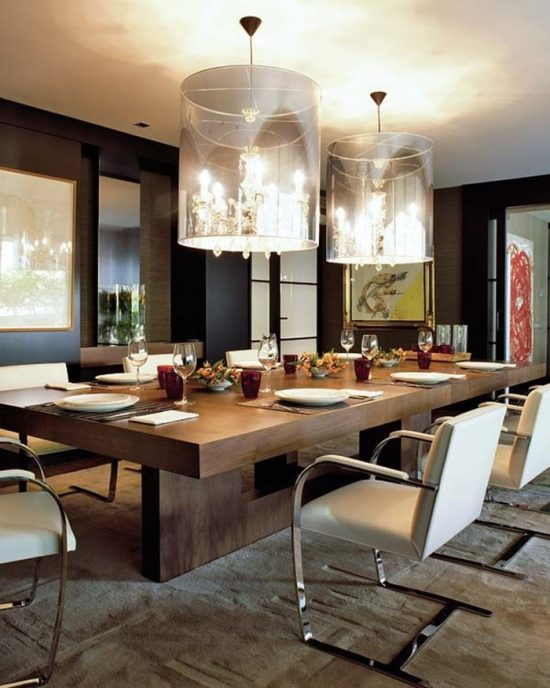 2018 creative dining table ideas to fit into your living for Living room designs with dining table