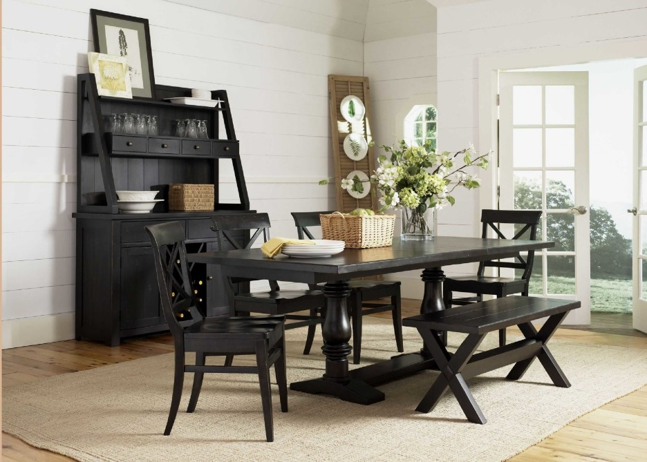 Black Wooden Furniture For A Dining Room Charming And