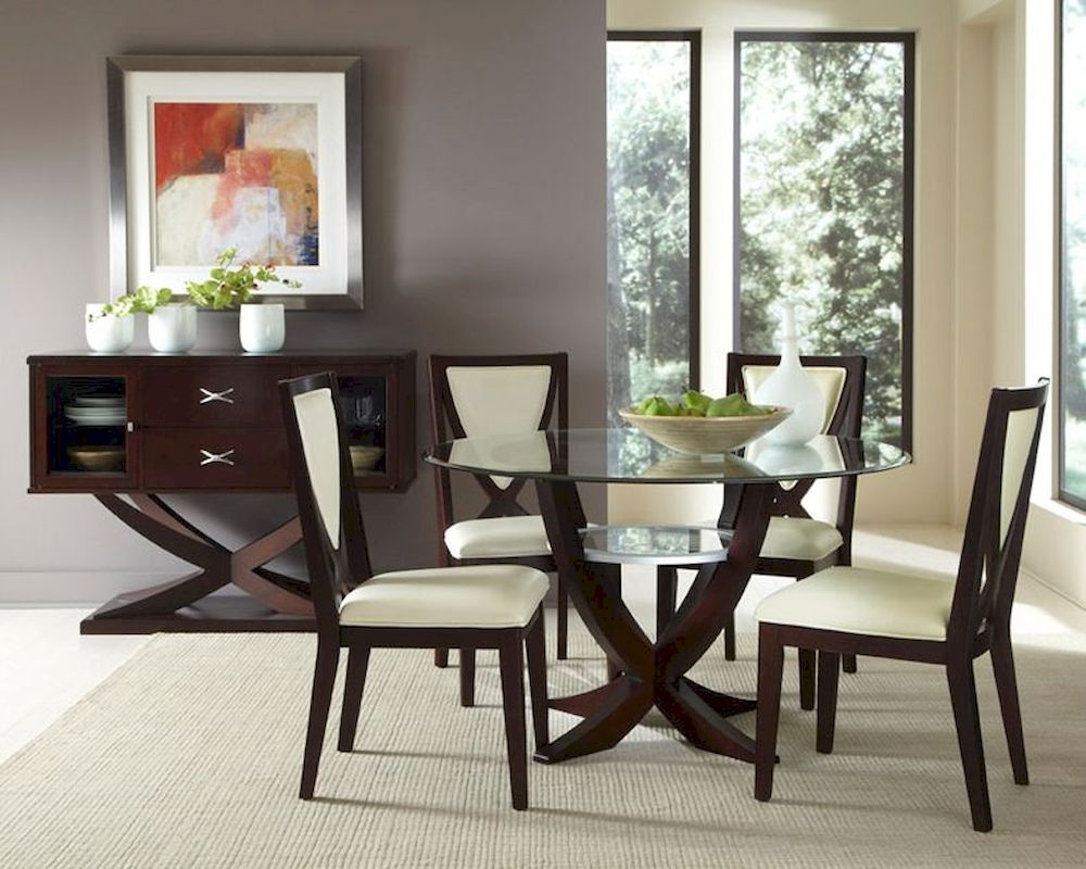 Glass dining room tables dining room glass sets with for Beautiful glass dining room tables