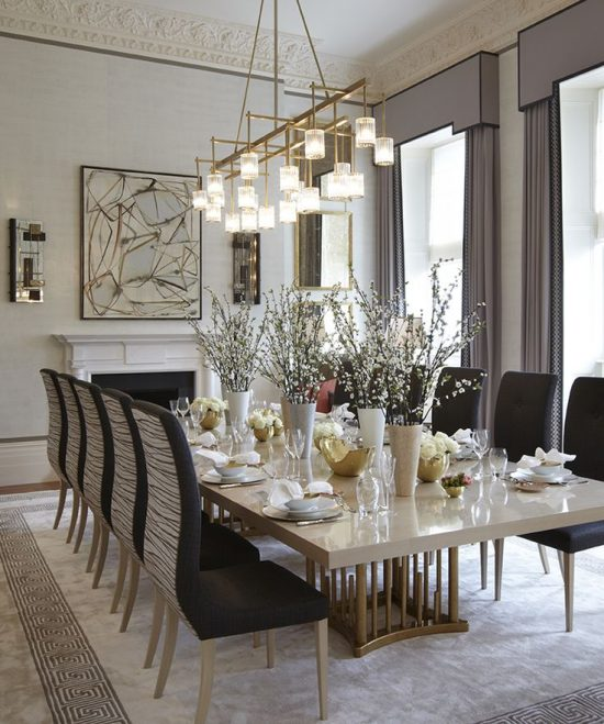 2018 dining room tablescape ideas for a gorgeous dining for Dining table in living room pictures