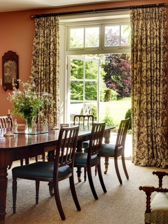 dining room s curtains in interior decoration