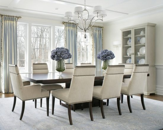 Dining Rooms Curtains Role In Interior Decoration