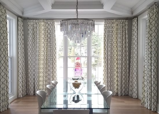 Dining room 39 s curtains role in interior decoration - Dining room curtains ideas ...