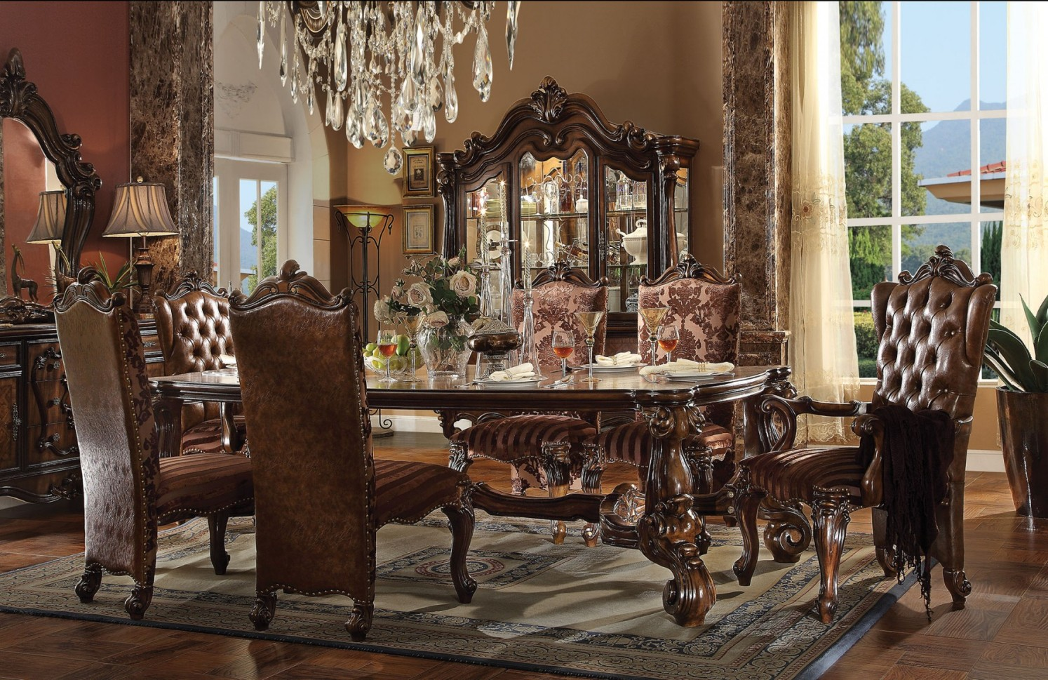 Formal dining room sets how elegance is made possible for The room furniture