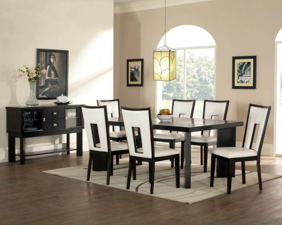 Increase your home value with 2017 stylish black and white dining room décor - Increase Your Home Value With 2017 Stylish Black And White Dining