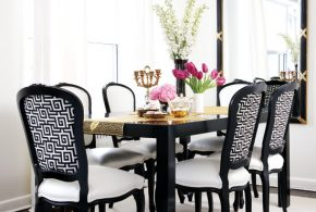 Increase your home value with 2017 stylish black and white dining room decor