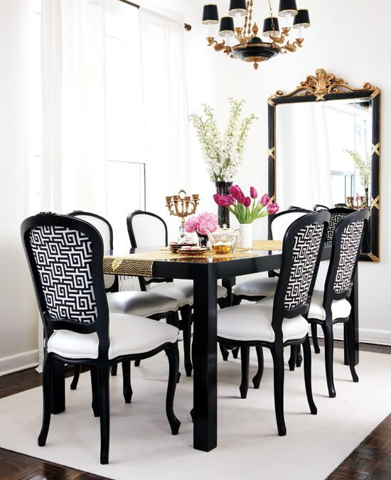 Increase your home value with 2017 stylish black and white dining room décor