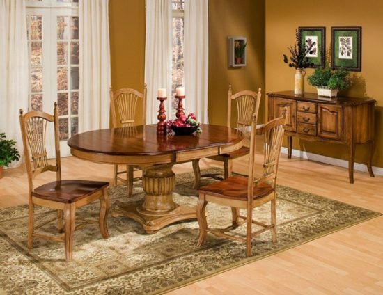 oak dining room set how to go traditional elegantly dining room sets dining sets. Black Bedroom Furniture Sets. Home Design Ideas