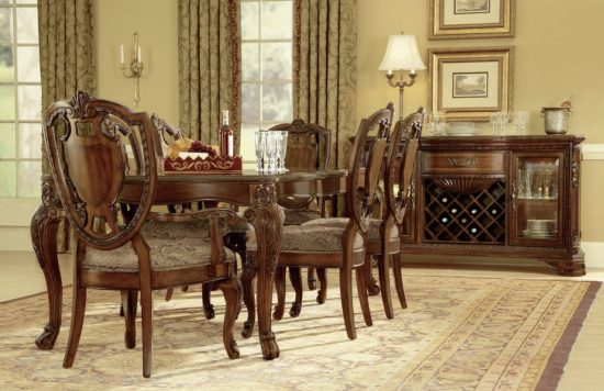 Beautify your dining space with 2017 cherry dining room for Cherry dining room set
