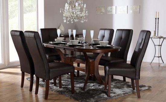 best 2018 dining room table and chair set choice for 6 dining chairs dining room tables. Black Bedroom Furniture Sets. Home Design Ideas