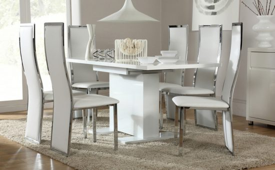 Best 2018 dining room table and chair set choice for 6 for Small white dining room sets