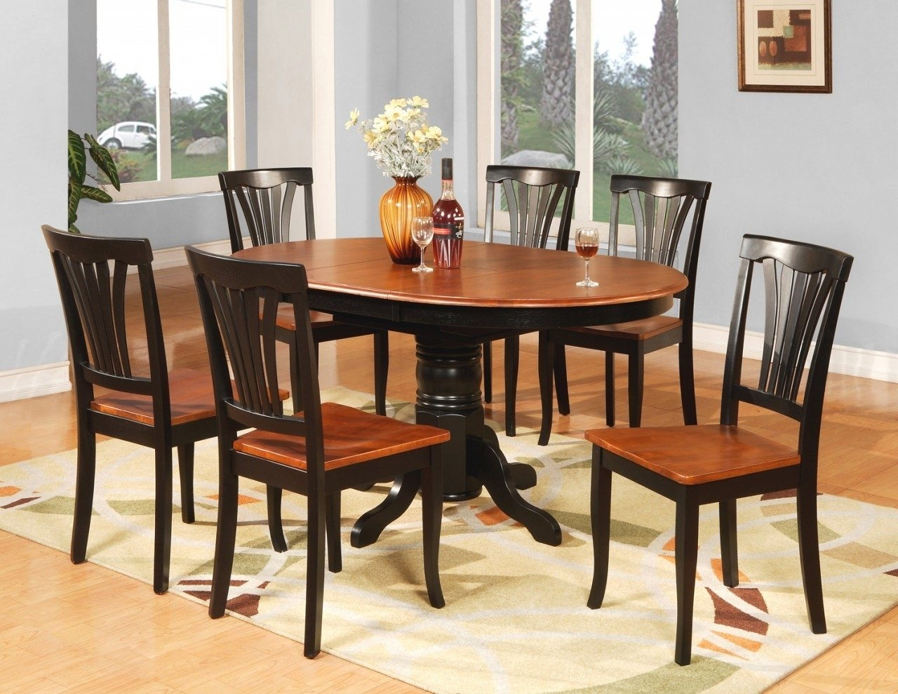 Cheap dining room tables chairs how to bargain for for Pictures of dining room sets