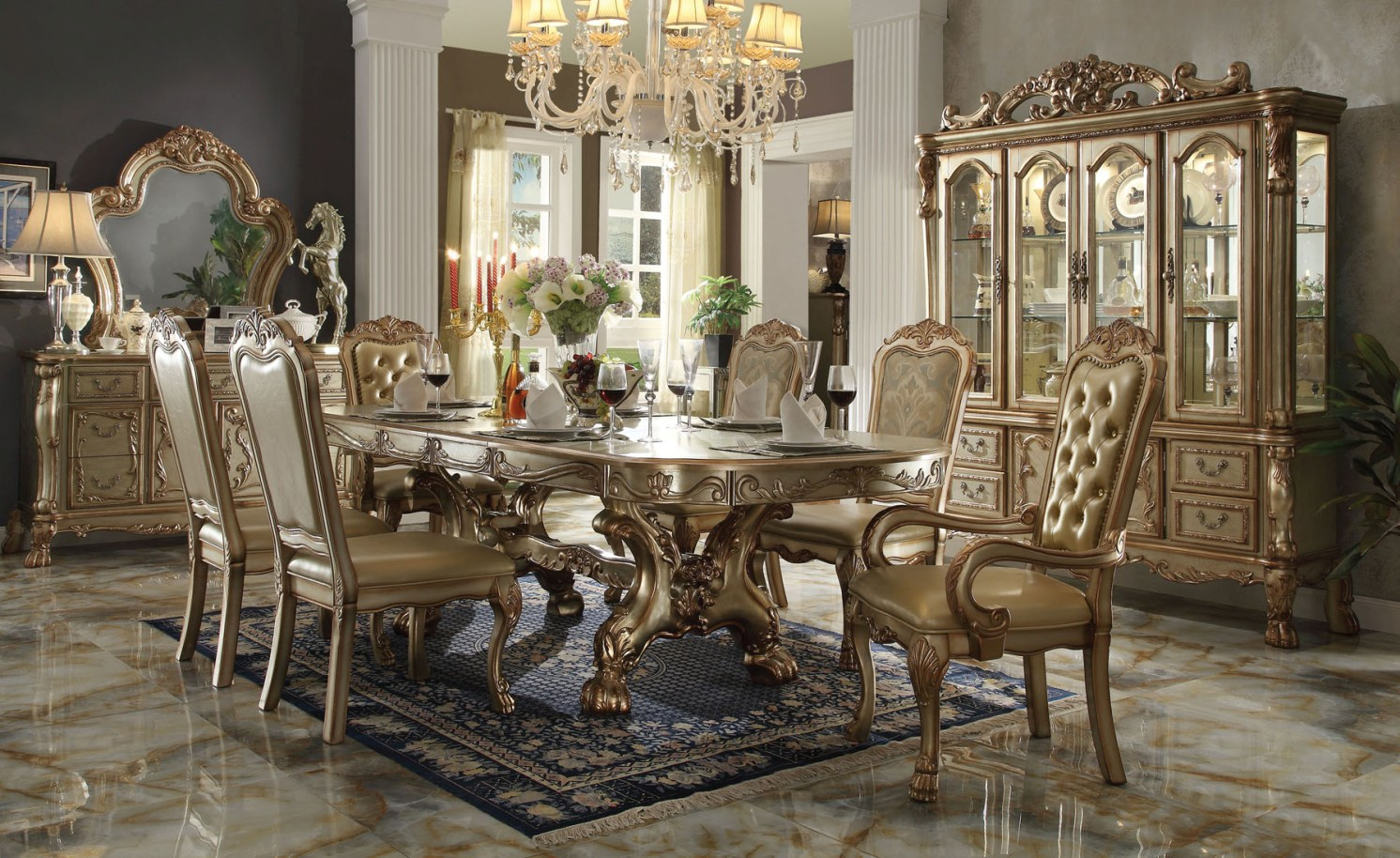 Formal dining room sets reasons why formal tables offer for Dining set decoration