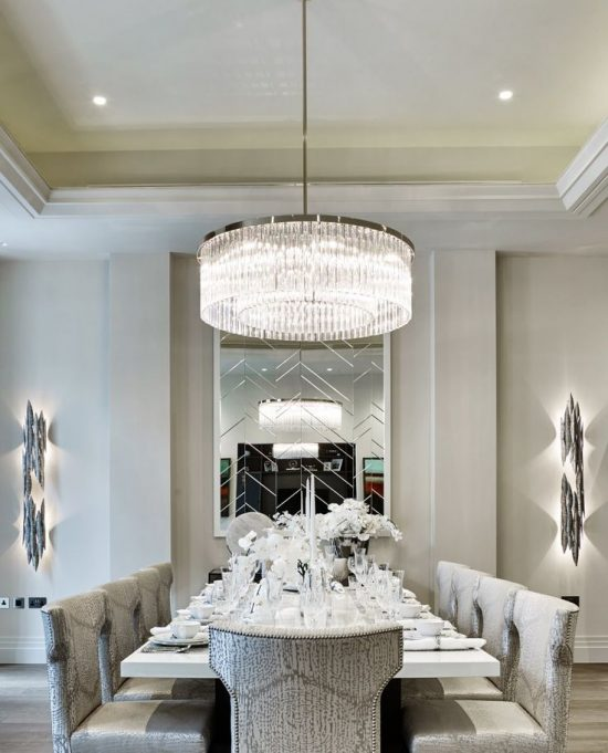 2017 contemporary dining room decor absolute beauty and for Contemporary dining table decor