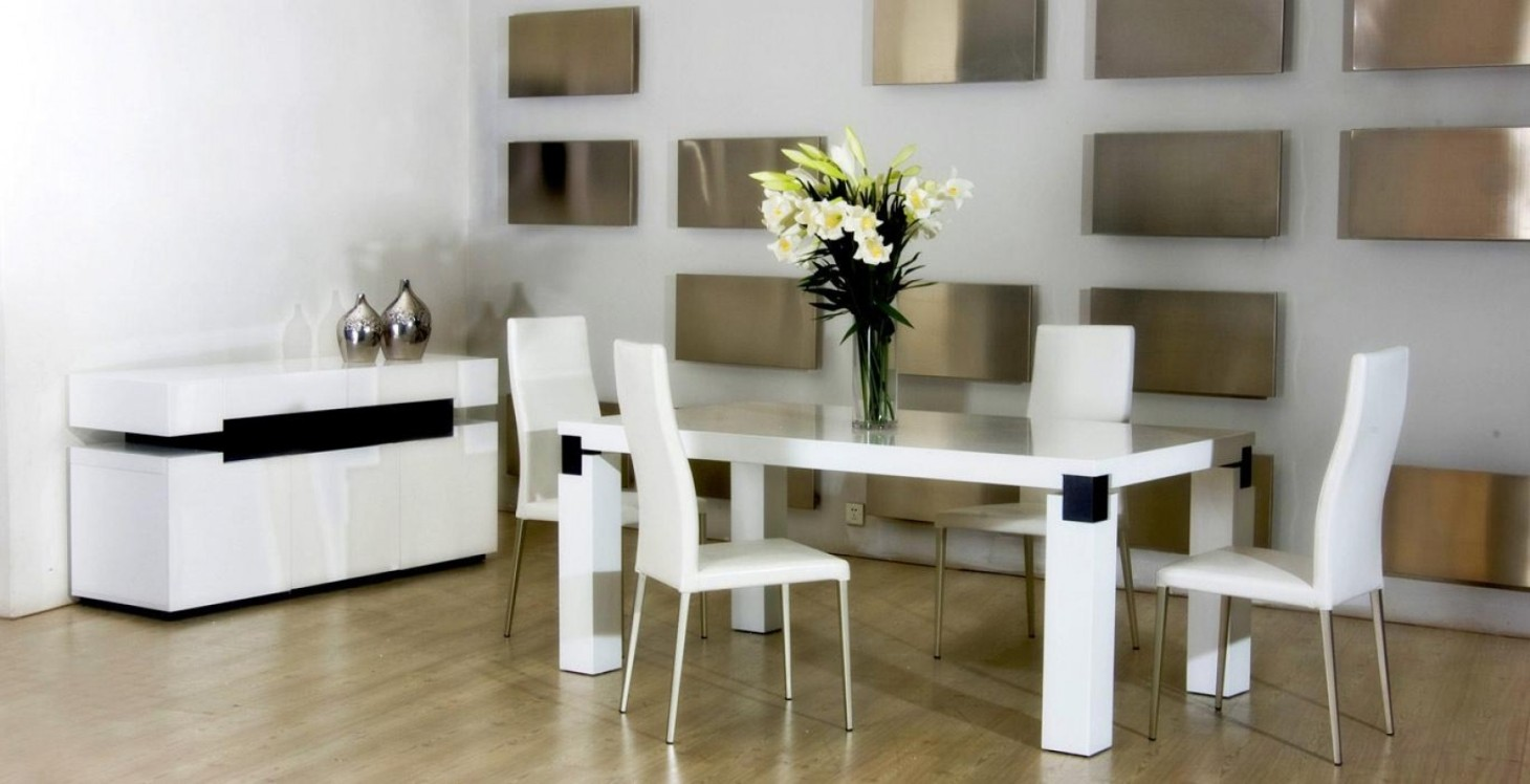 Add a striking dining look with 2017 contemporary dining for Dining room looks
