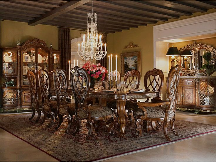 Antique dining room furniture a royal touch of beauty from for Vintage style dining room ideas