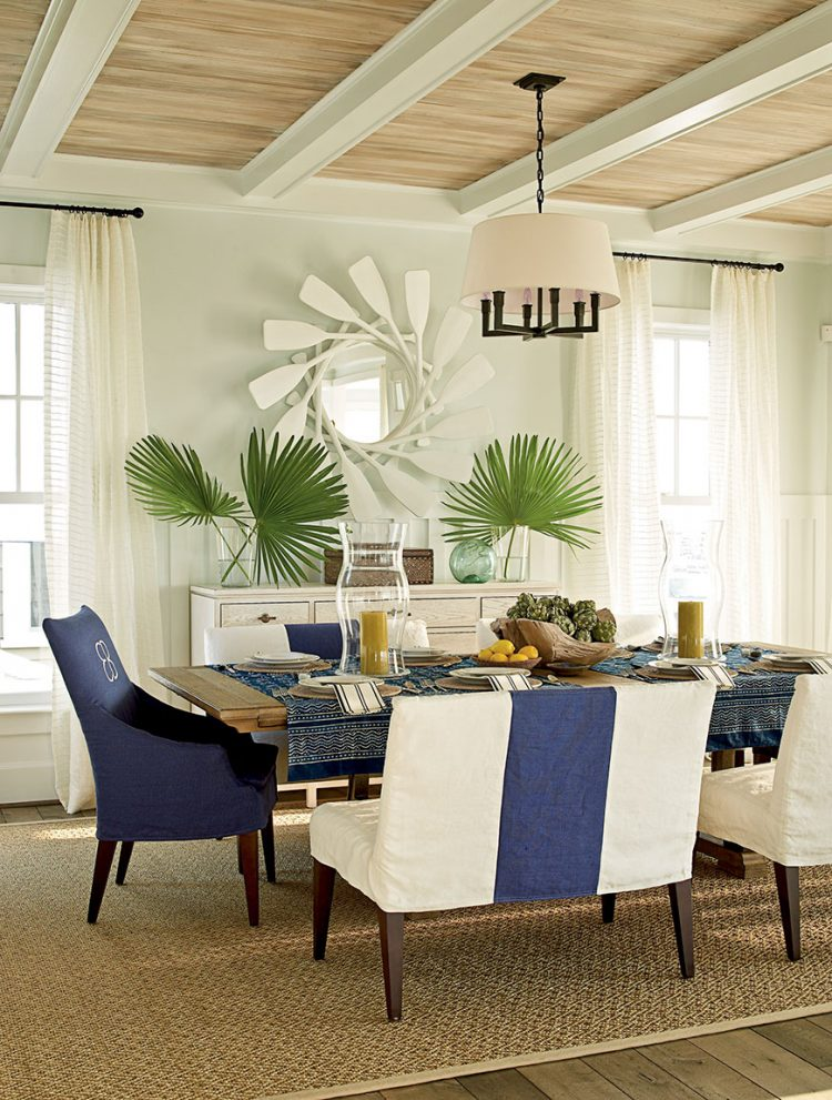 Attractive Coastal Dining Room Theme Décor For A Maximum Calmness And Peace