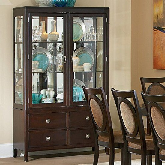 Dining room cabinets a necessity for organized elegant dining room look dining room cabinet - Elegant contemporary curio cabinets furniture ...