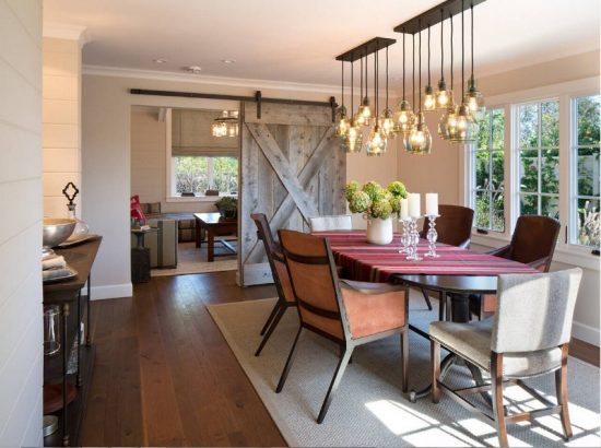 Dining room lighting; a bright elegant touch for warm inviting space