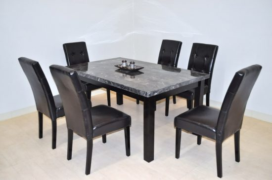 Get extraordinary fashionable look with 2017 marble dining for Dining table with 6 chairs cheap