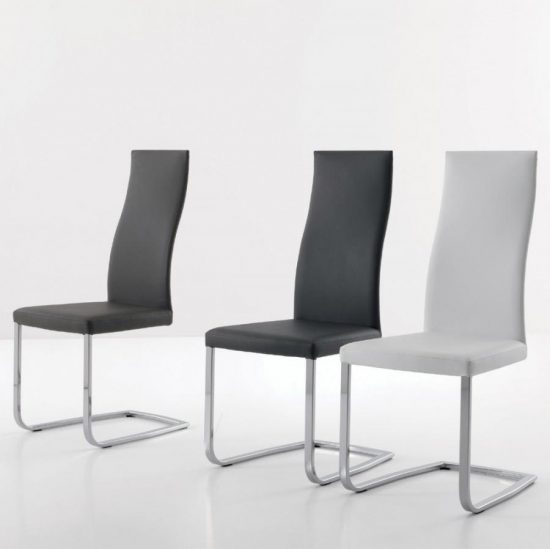 White Leather Dining Room Chairs Modern Glass Dining Tableblack