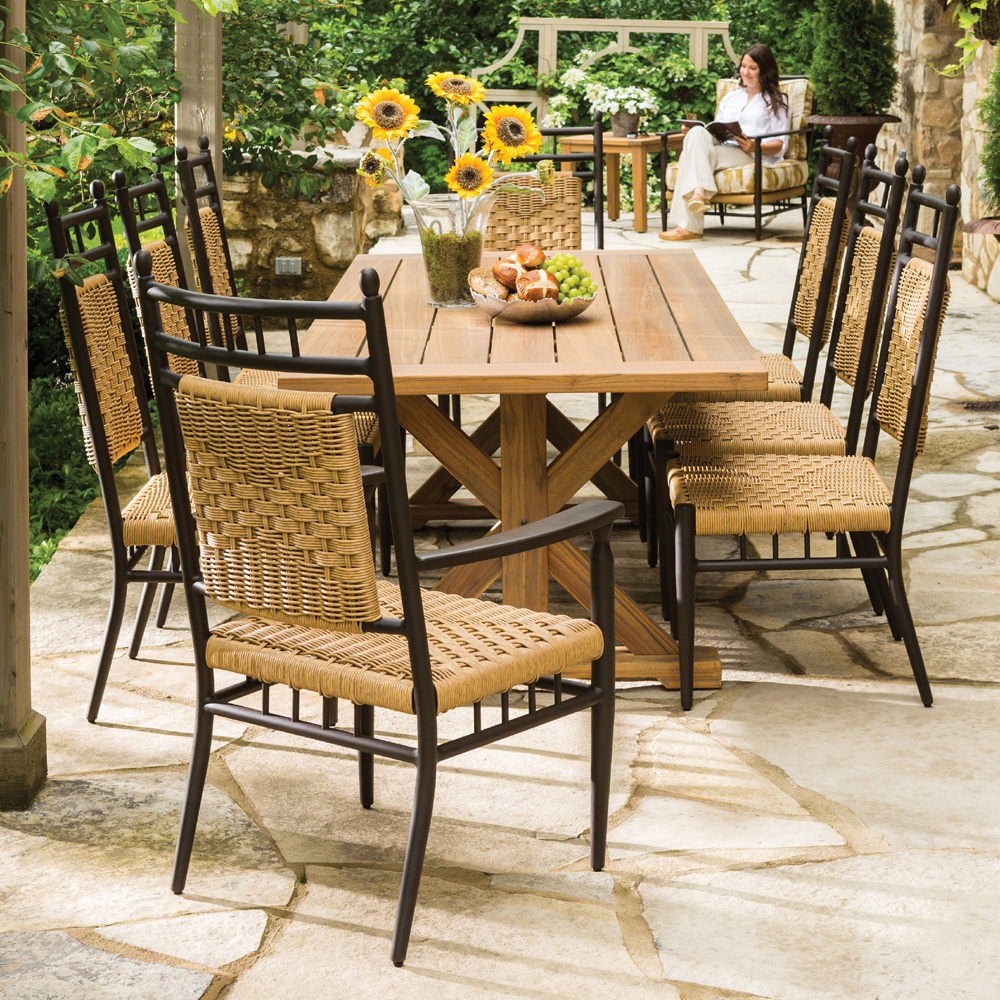 Outdoor dining table superb design ideas dining table for Restaurant furniture