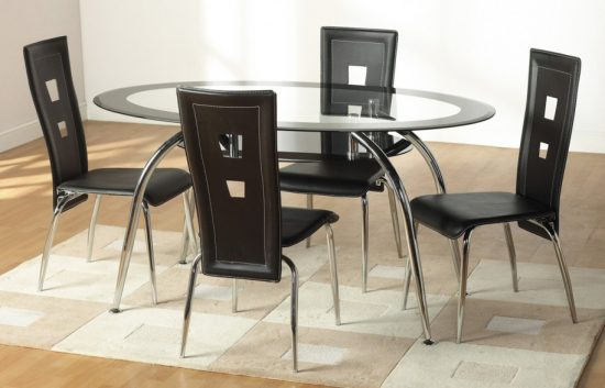 Oval dining room tables; Luxurious elegant focal point in functional dining space