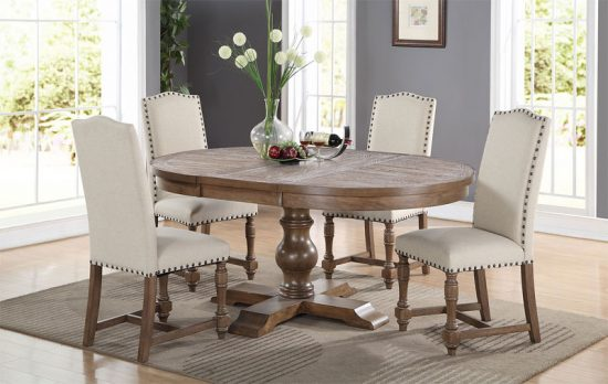 Oval dining room tables; Luxurious elegant focal point in ...