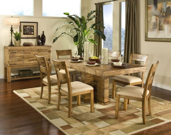 Rustic dining room furniture lends your space aesthetic for Rustic dining room