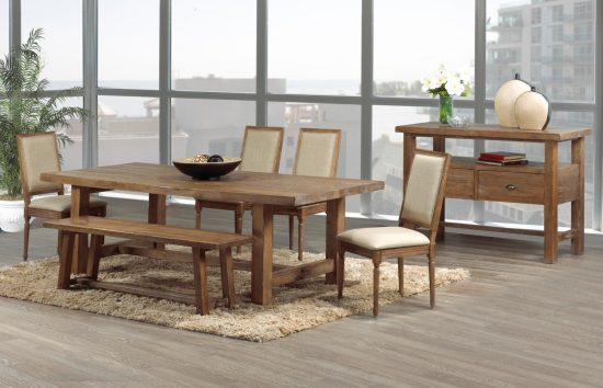 Rustic dining room furniture lends your space aesthetic beauty and rich look