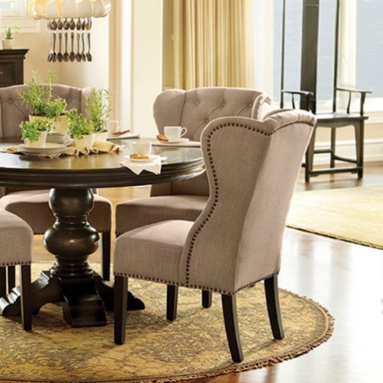 Upholstered dining chairs a touch of beauty and coziness for Dining room upholstered chairs