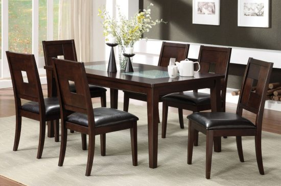 Wood dining room furniture for warm, homey and stylish look