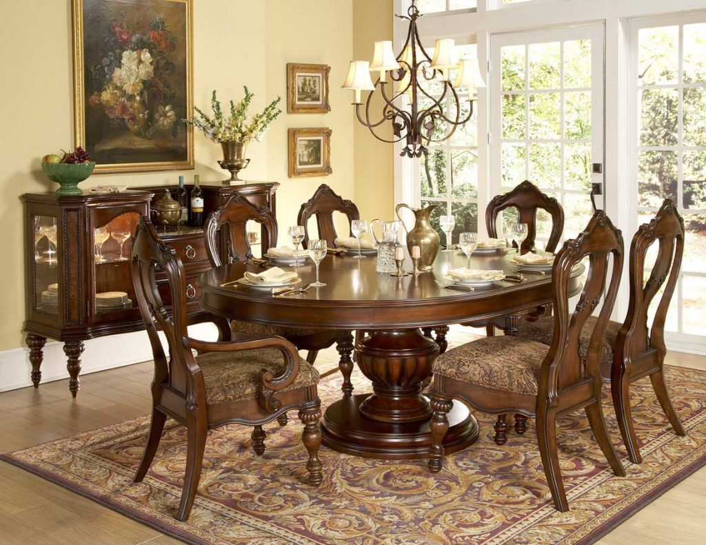 wood dining room furniture for warm homey and stylish look dining room furniture - Antique Dining Room Sets