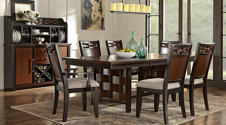 Dining room table chairs painting heavenly look dining for Painting dining room furniture ideas