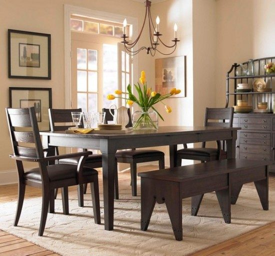 Dining Room Table & Chairs Painting – Heavenly Look Dining Room Using Stunning Painting Ideas!