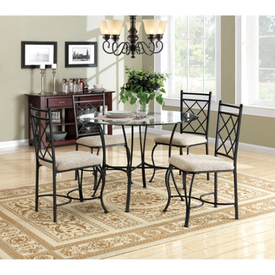 Dining room table chairs painting heavenly look dining for Ideas for painting dining room table and chairs
