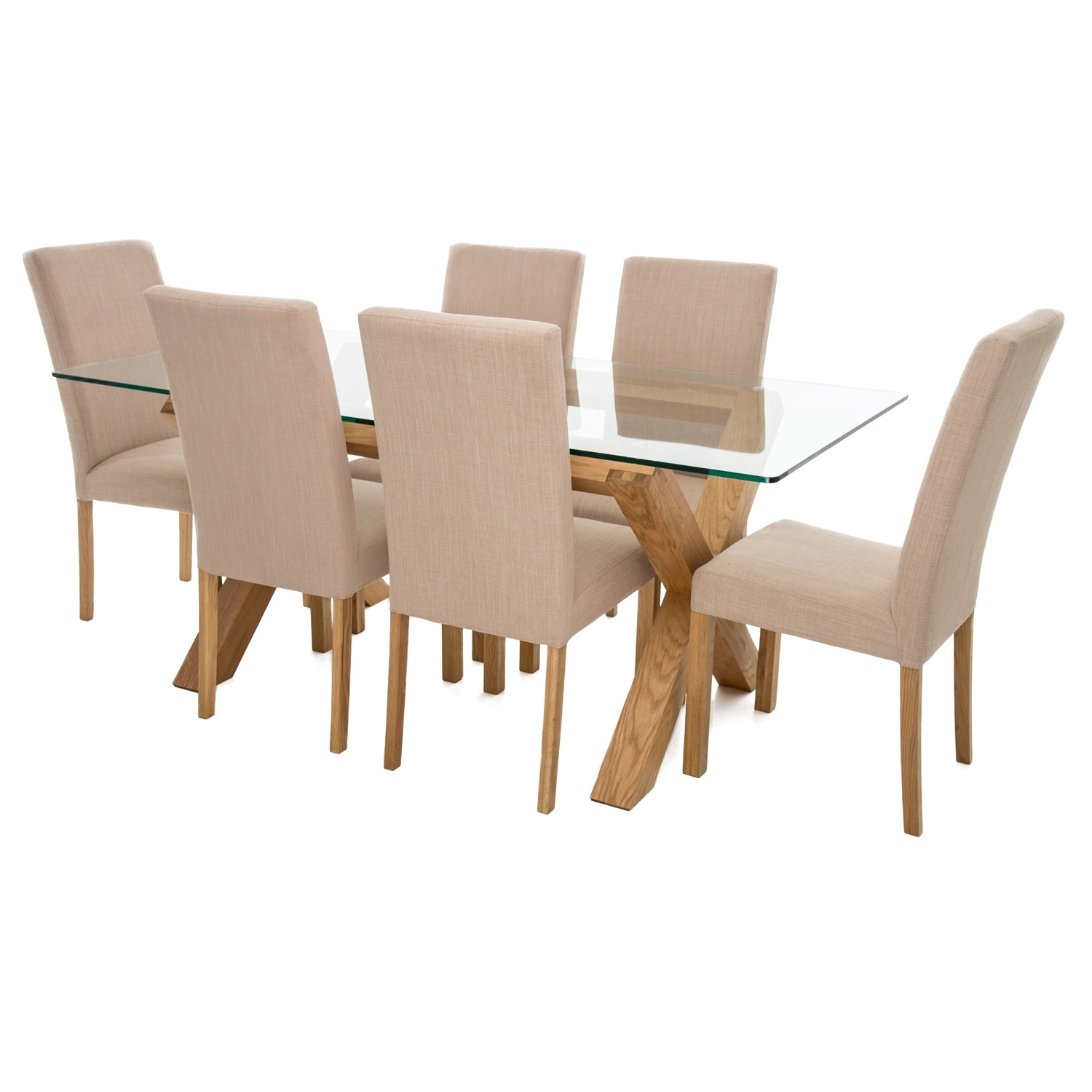 Dining Table Chairs Perfect Room Oak Glass
