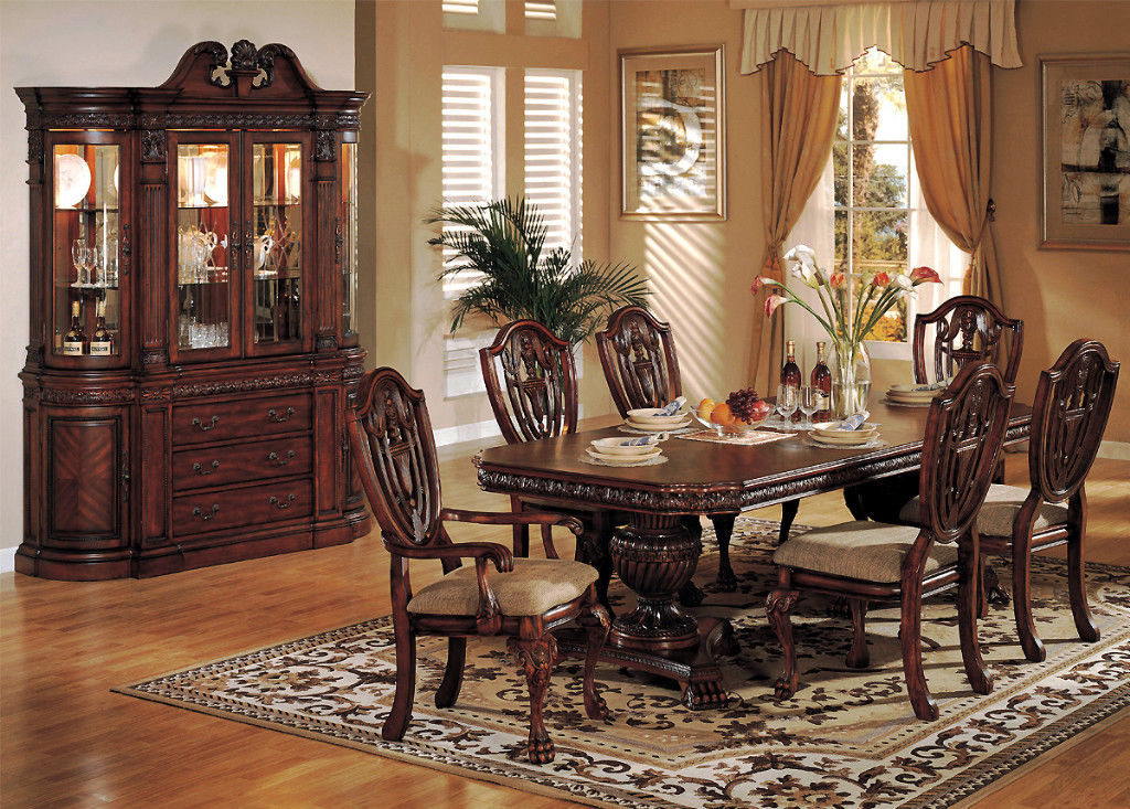 Formal dining room sets improving how your dining room for Elegant dining room furniture