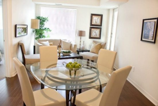L shaped dining living room decorating think cleverly for Living dining room design ideas