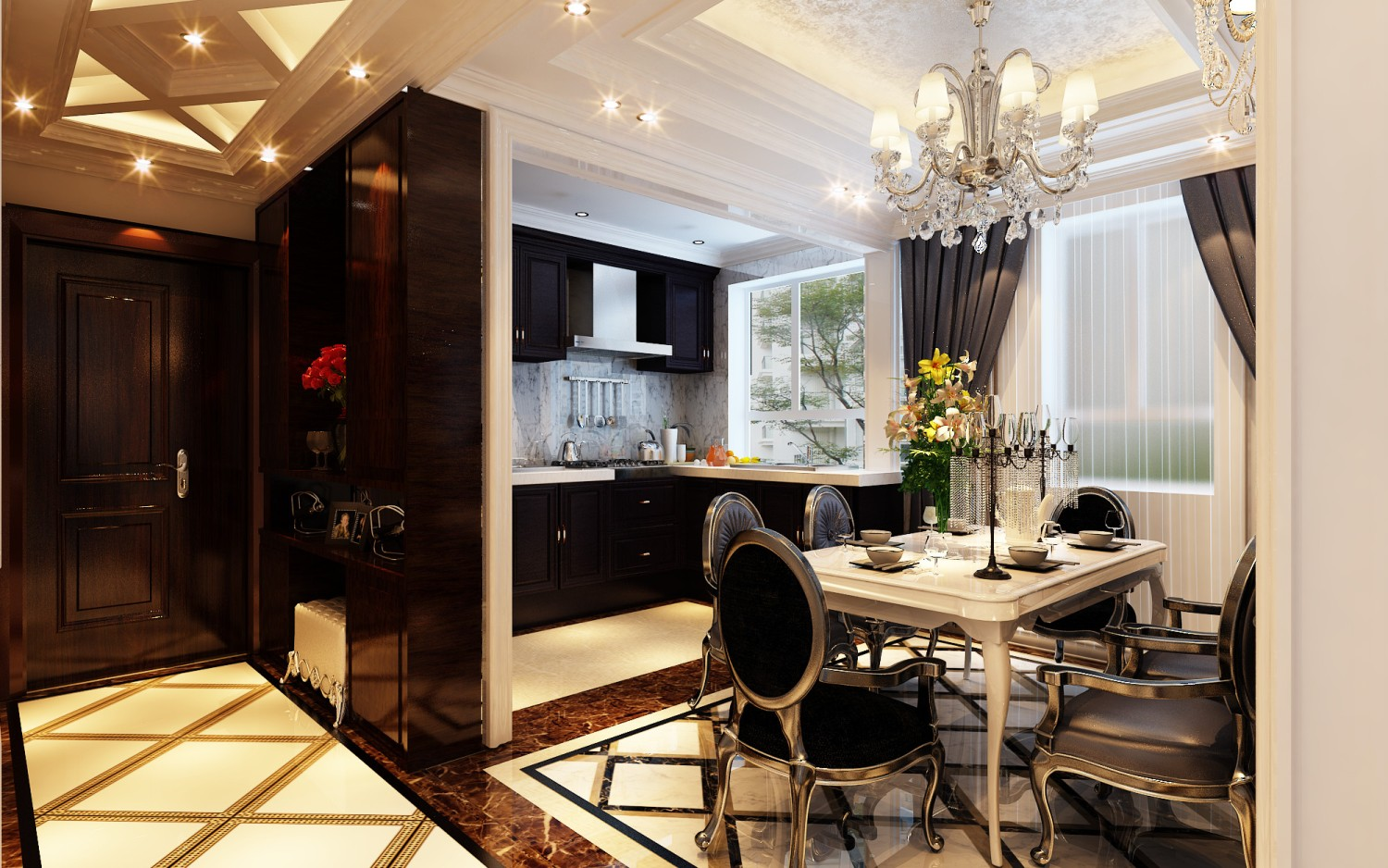 Modern kitchen and dining space combination get the best for Dining room and kitchen