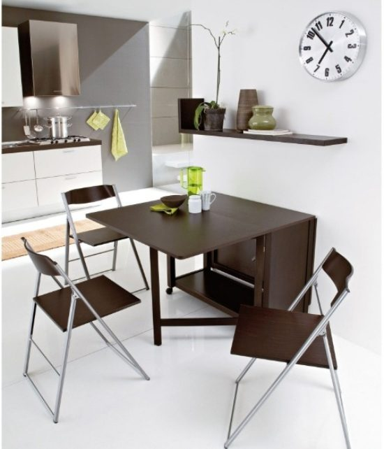Small spaces dining room table chairs there is always for Dining table for small house