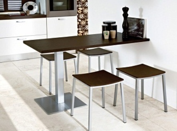 Small spaces dining room table chairs there is always a solution for small spaces 3 - Small space dining table solutions model ...