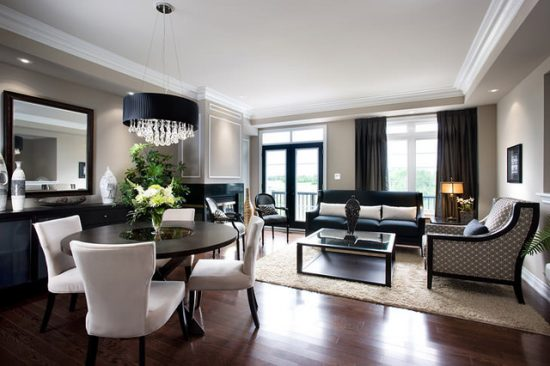 Count them! Creative methods to decorate a living room-dining room combo