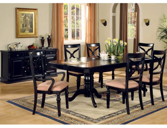 Black dining room table – Why you should buy one - dining room ...