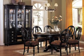 2018 black dining room furniture ideal for stylish dining rooms